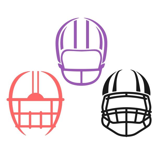 600x600 Football Helmet Cuttable Design