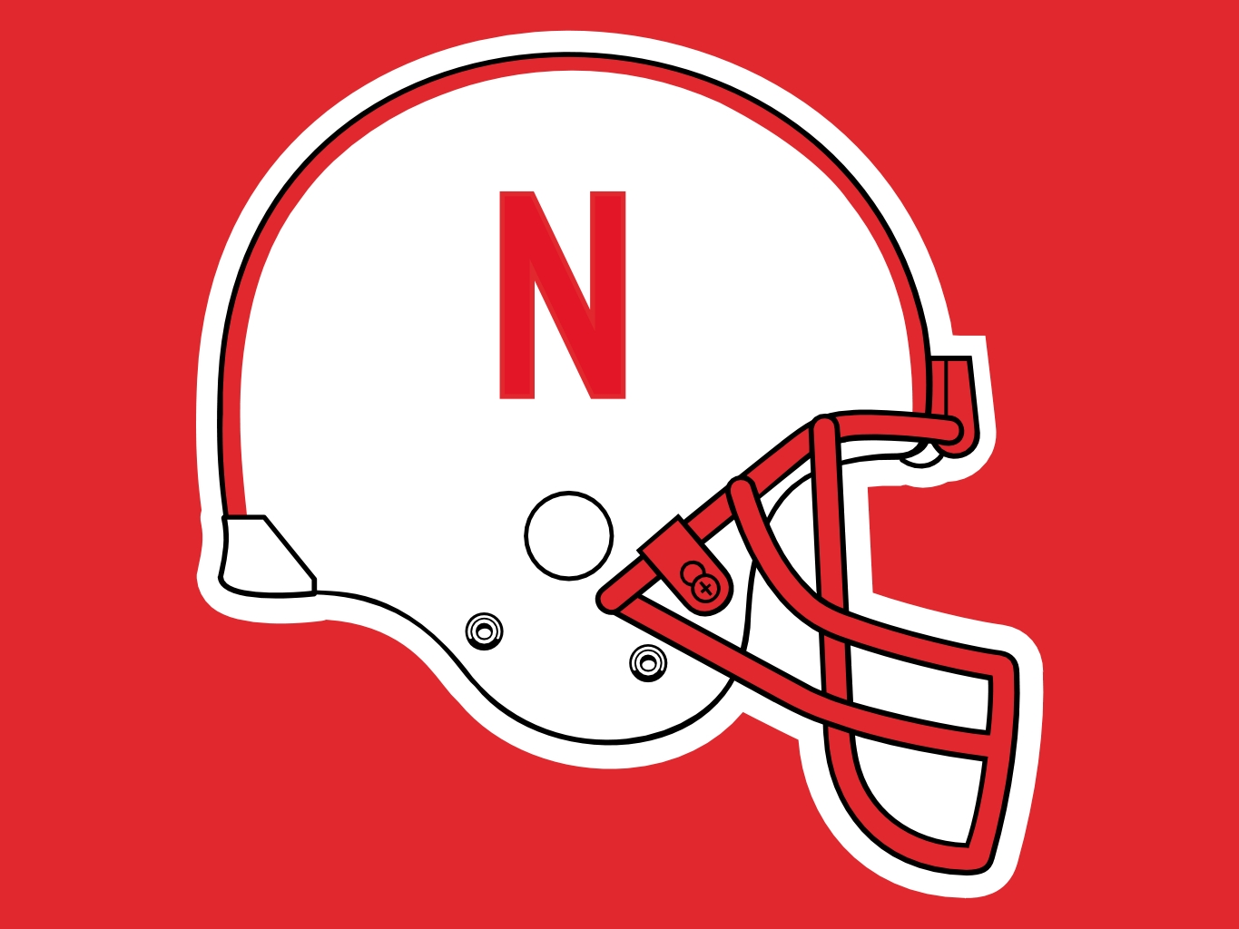 1365x1024 Nebraska Football Helmet Clip Art