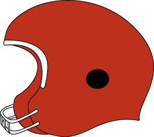 304x270 Red Football Helmet Clip Art