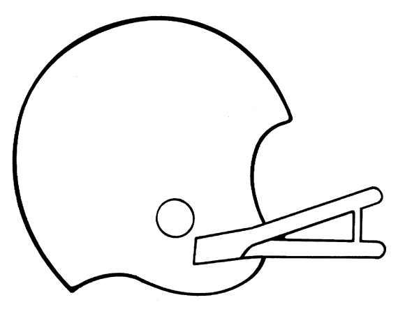 570x453 Simple Clipart Football Helmet