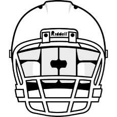 230x230 Football Helmet Outline Clipart