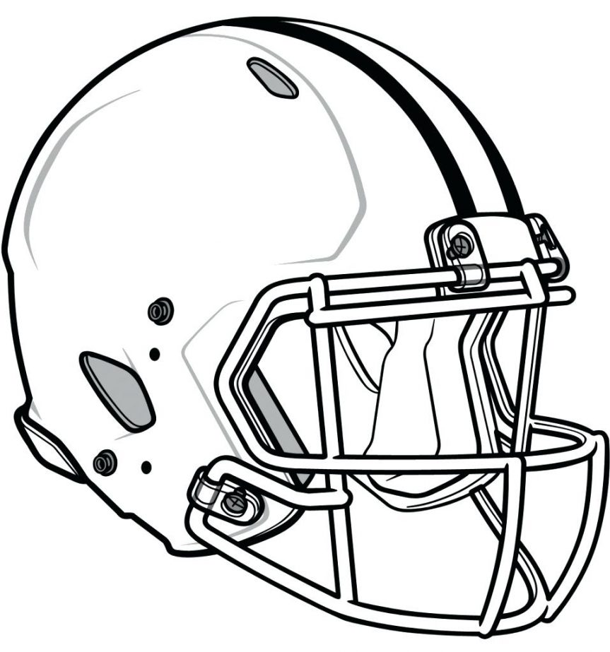 863x923 Michigan Football Helmet Coloring Pages Murderthestout