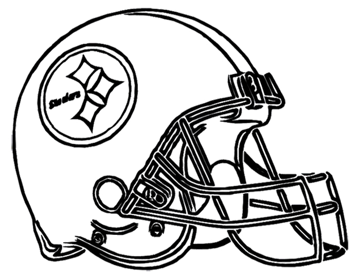 700x541 Football Helmet Steelers Pittsburgh Coloring Page Pittsburgh