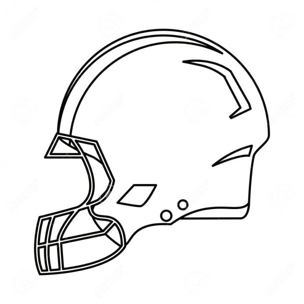 It's just a picture of Football Helmets Template Printable for front view