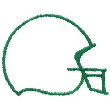 350x350 Football Outline Football Helmet Outline Clipart