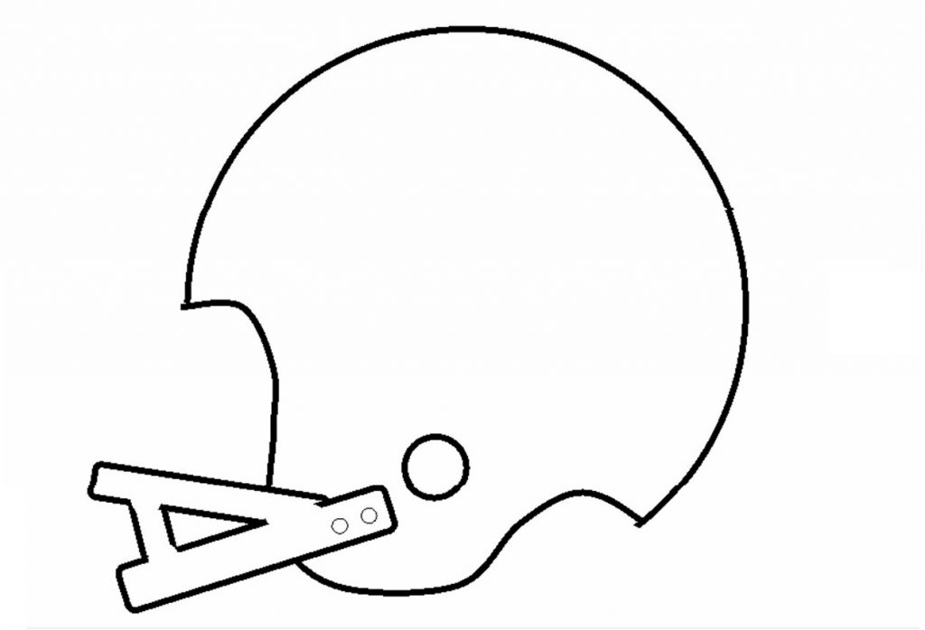 Football Helmet Outlines