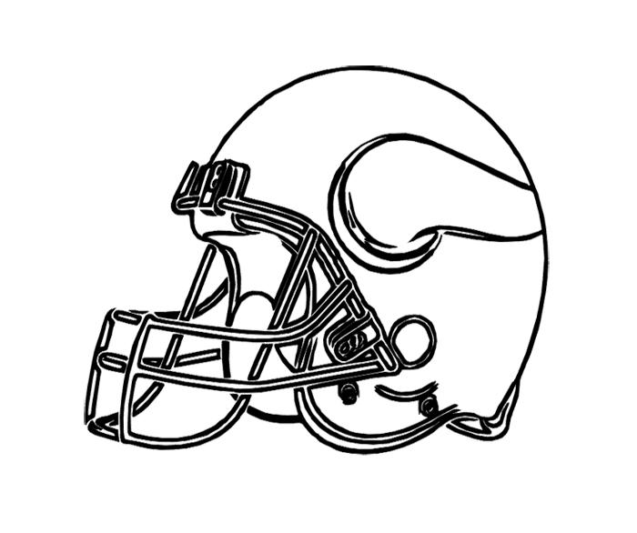 700x586 Football Helmet Vikings Minnesota Coloring Page For Kids Kids