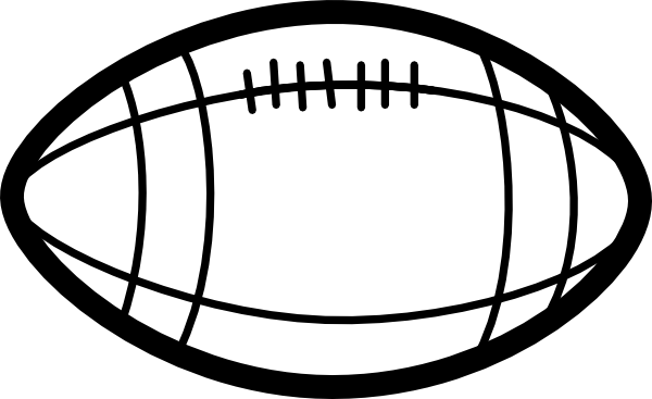 600x367 football outline football helmet outline - Football Outline