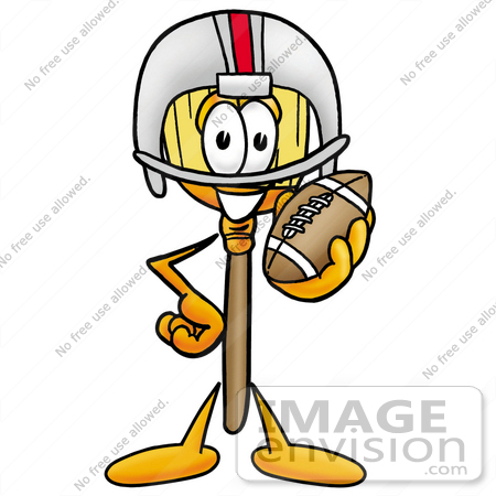 450x450 Clip Art Graphic Of A Straw Broom Cartoon Character In A Helmet
