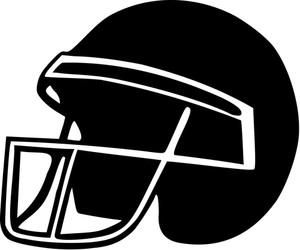 300x250 Football Helmets Royalty Free Stock Image