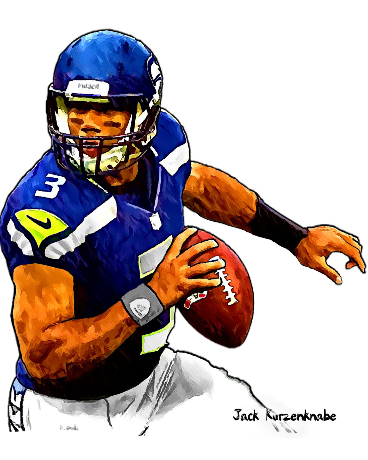 1280x1600 Seahawk Football Clipart