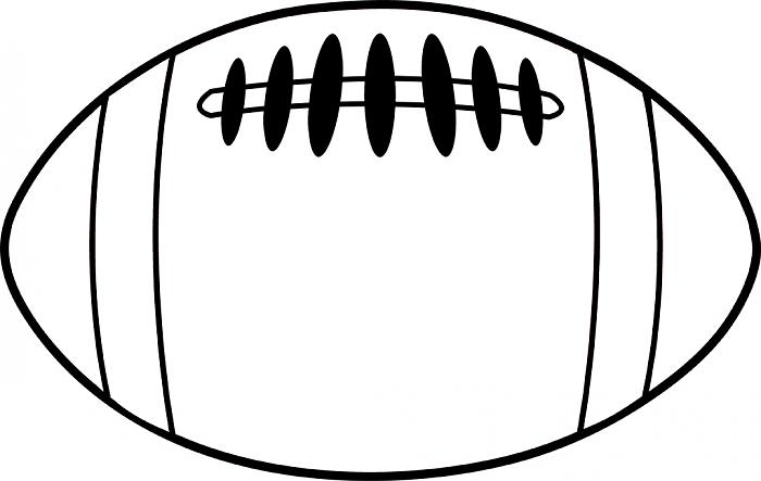 700x443 Football Outline 0 Clipart