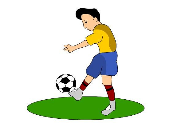 550x400 Animated Football Clipart Image 2