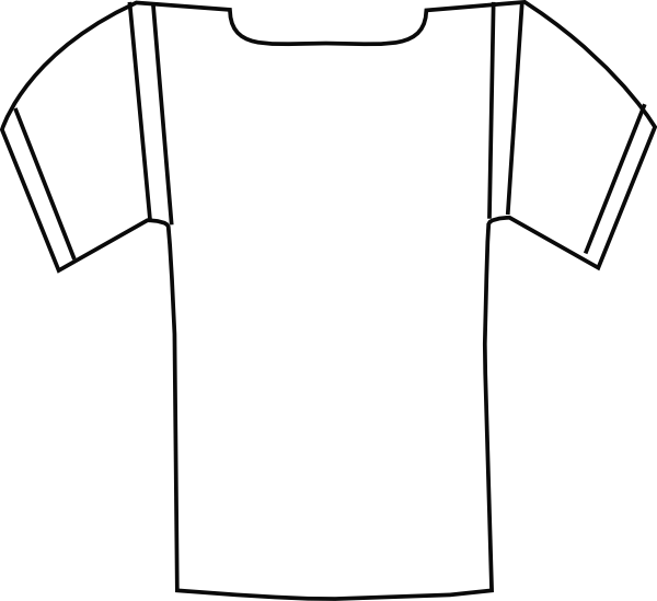 600x549 volleyball jersey clipart