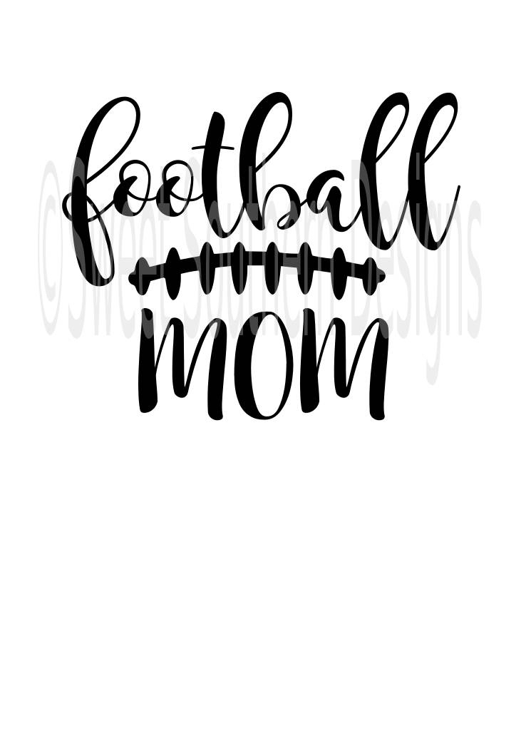 745x1053 Football Mom Laces Fall Svg Pdf Dxf Instant Download Design