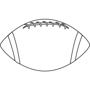 300x300 Black And White Football Clipart