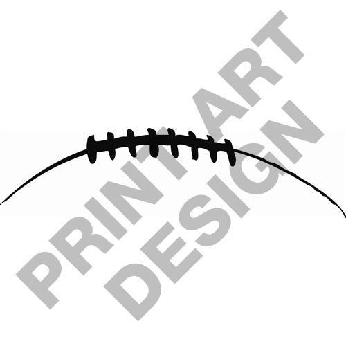 500x500 Football Laces Clipart Black And White