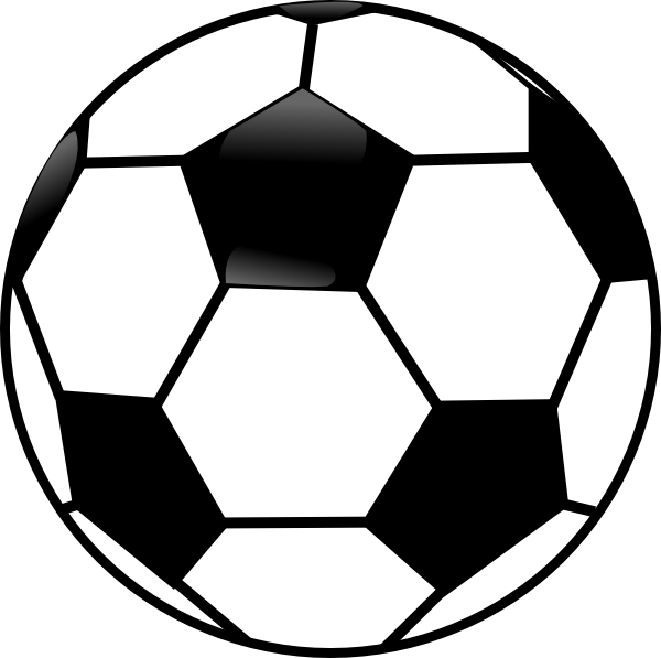 600x597 Free Football Black And White Clipart Image