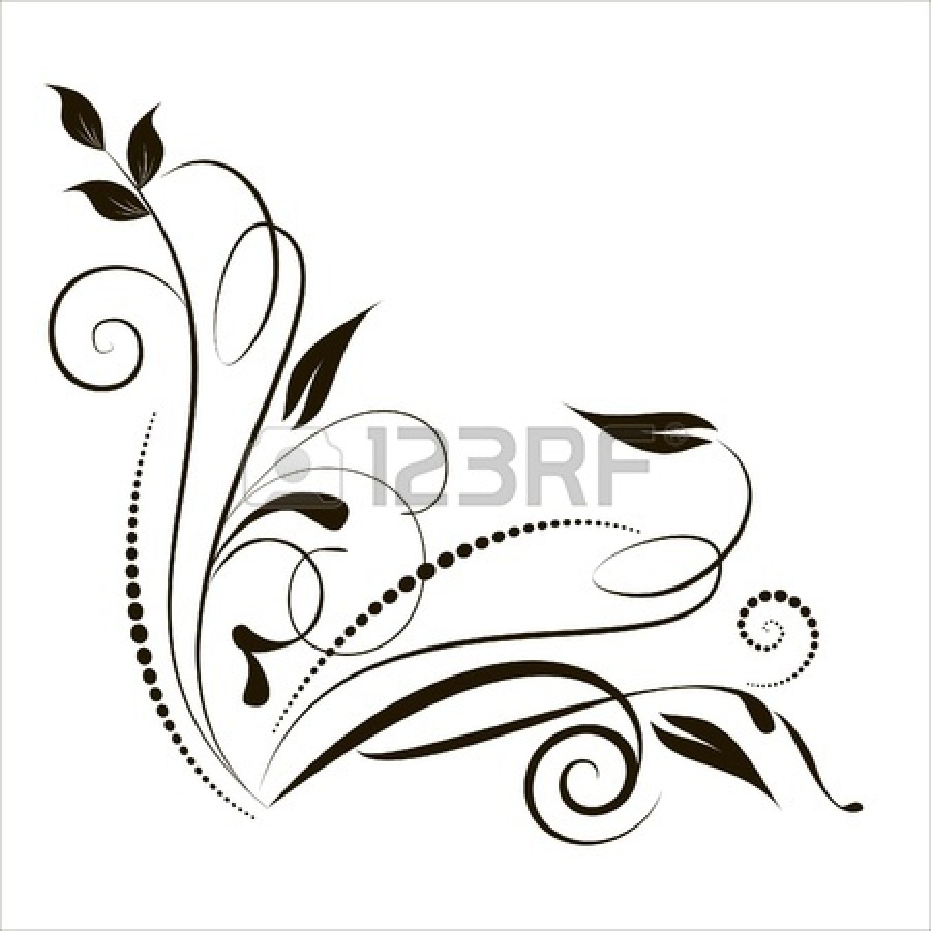 1350x1350 Lace Clipart Black And White
