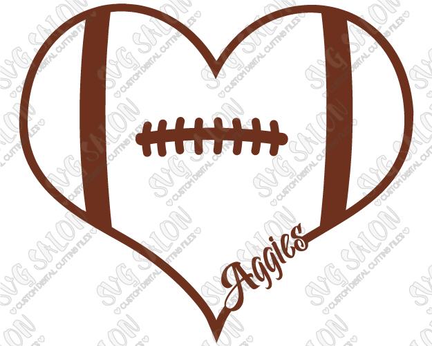625x500 Texas Aampm Aggies Fan Football Laces Heart Custom Diy Vinyl Shirt