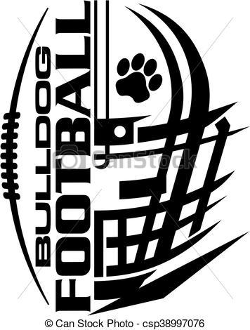 356x470 Bulldog Clipart Football Lace
