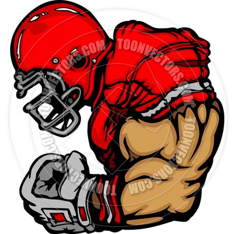 460x460 Football Player Lineman Vector Cartoon By Chromaco Toon Vectors
