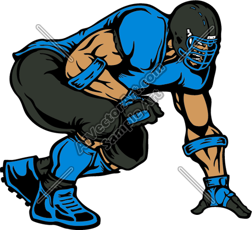 500x456 Football Clipart Defensive Line