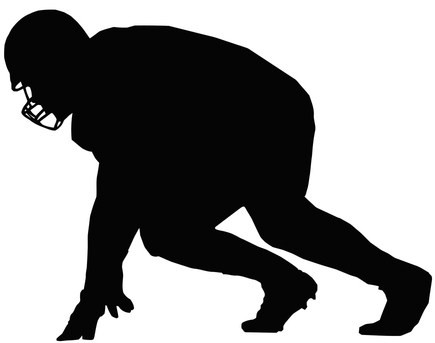 435x343 Football Player Silouttes Football Player Silhouette Football