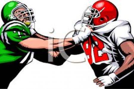450x300 Offensive Lineman Clip Art Linebacker Cartoon Linebacker 3 (Small