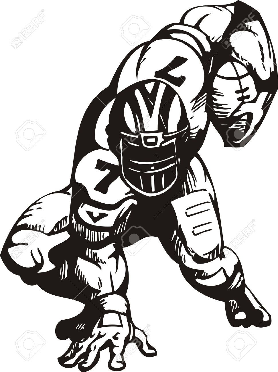 971x1300 Rear Clipart Football Player