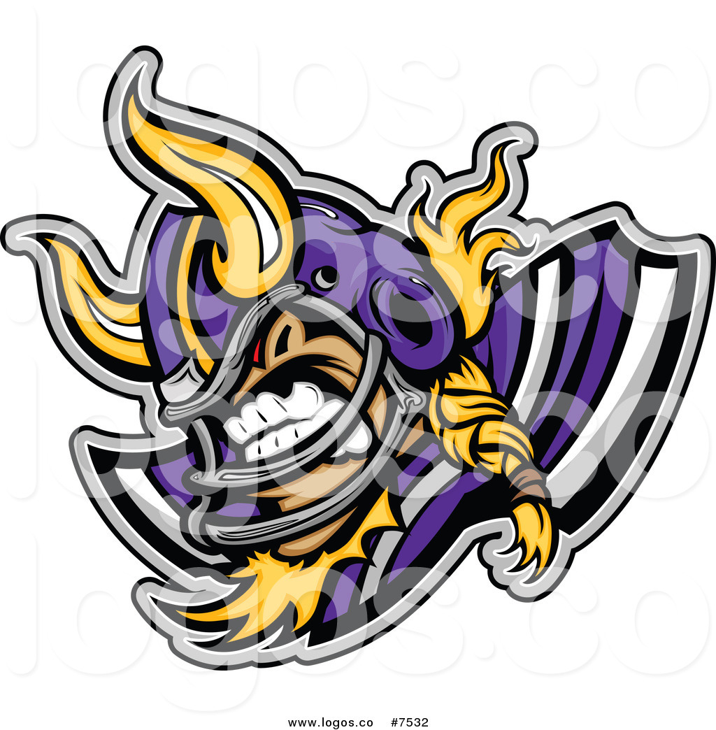 1024x1044 Royalty Free Clip Art Vector Logo Of A Competitive Viking Football