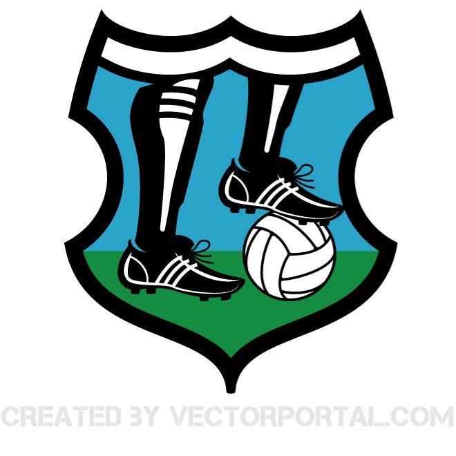 660x660 Football Logo Vector Clip Art