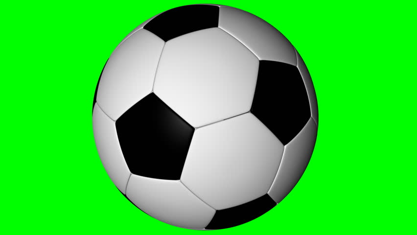 852x480 Soccer Ball, Loop Seamless,lpha Channel, Rotation On