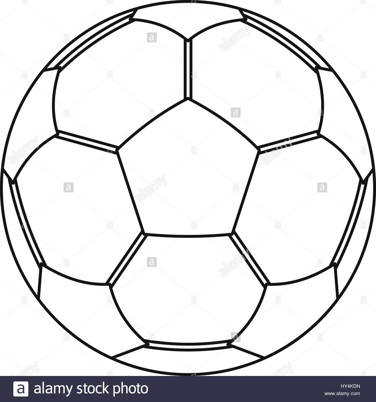 1300x1390 Football Ball Icon, Outline Style Stock Vector Art Amp Illustration