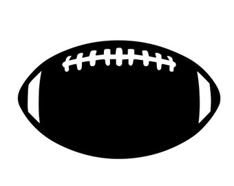 340x270 Football Outline Svg Etsy