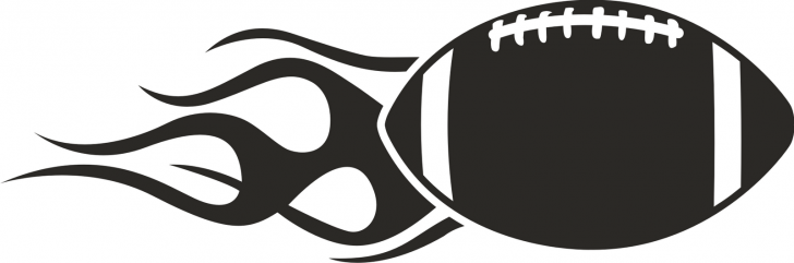 728x241 Vector Of A Cartoon Football Player Popping Ball Coloring Page