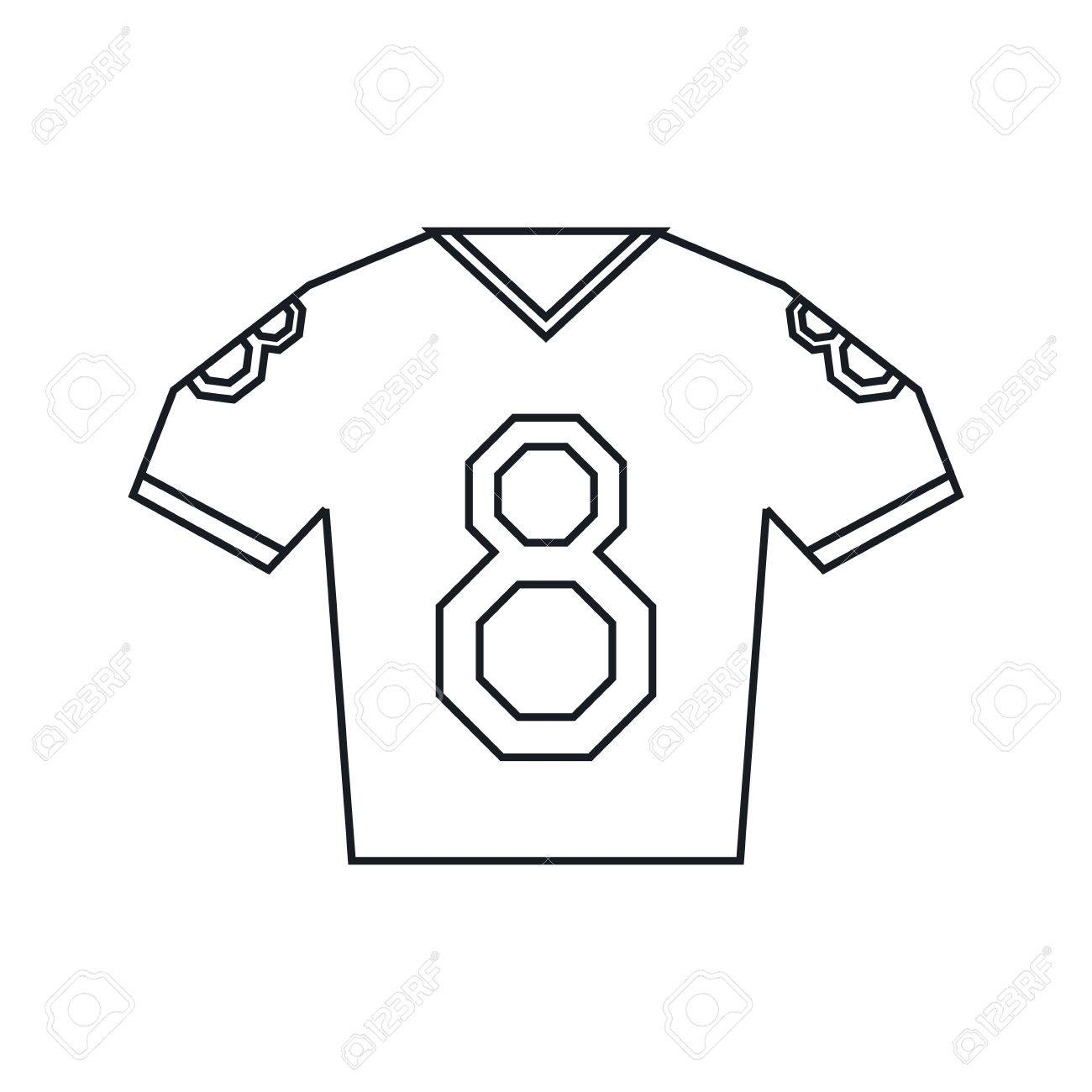 1300x1300 Jersey American Football Tshirt Uniform Outline Vector