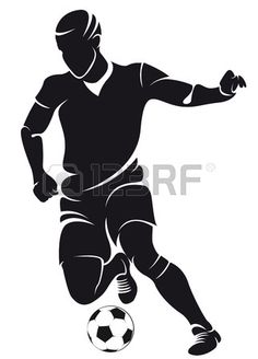 236x328 Silhouettes Of Soccer Football Players Vector Art Illustration