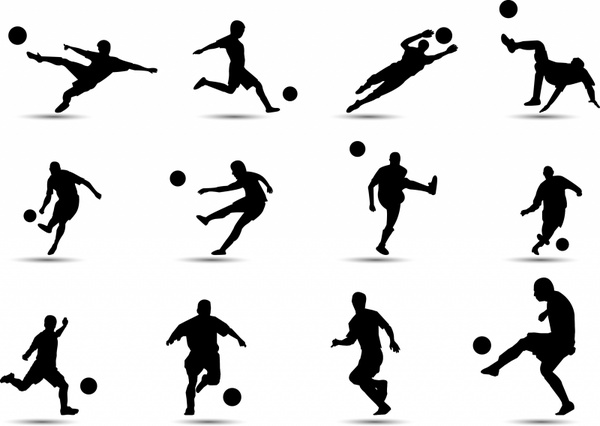 600x426 Soccer Silhouette Free Vector In Adobe Illustrator Ai ( Ai