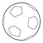 150x150 Soccer Ball With Dotted Decorations Royalty Free Vector Clip Art