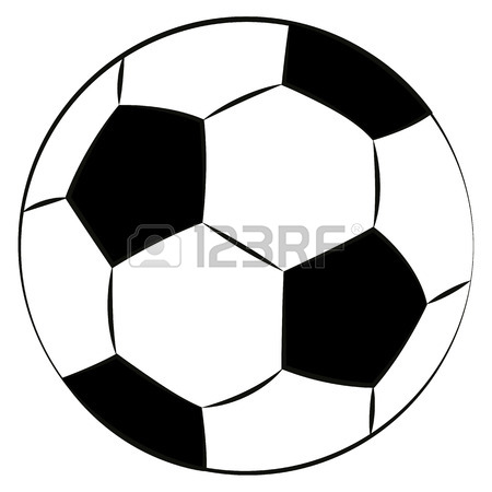 450x450 The Green Vector Banner Soccer Balls Royalty Free Cliparts
