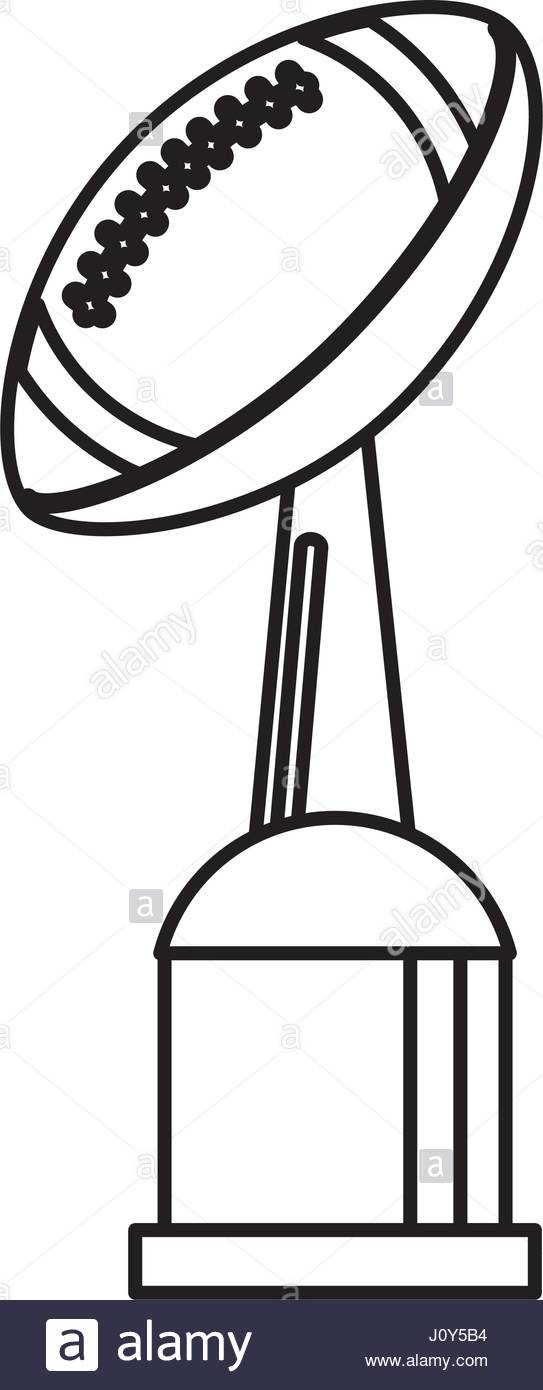 543x1390 Award Cup American Football Sport Outline Stock Vector Art