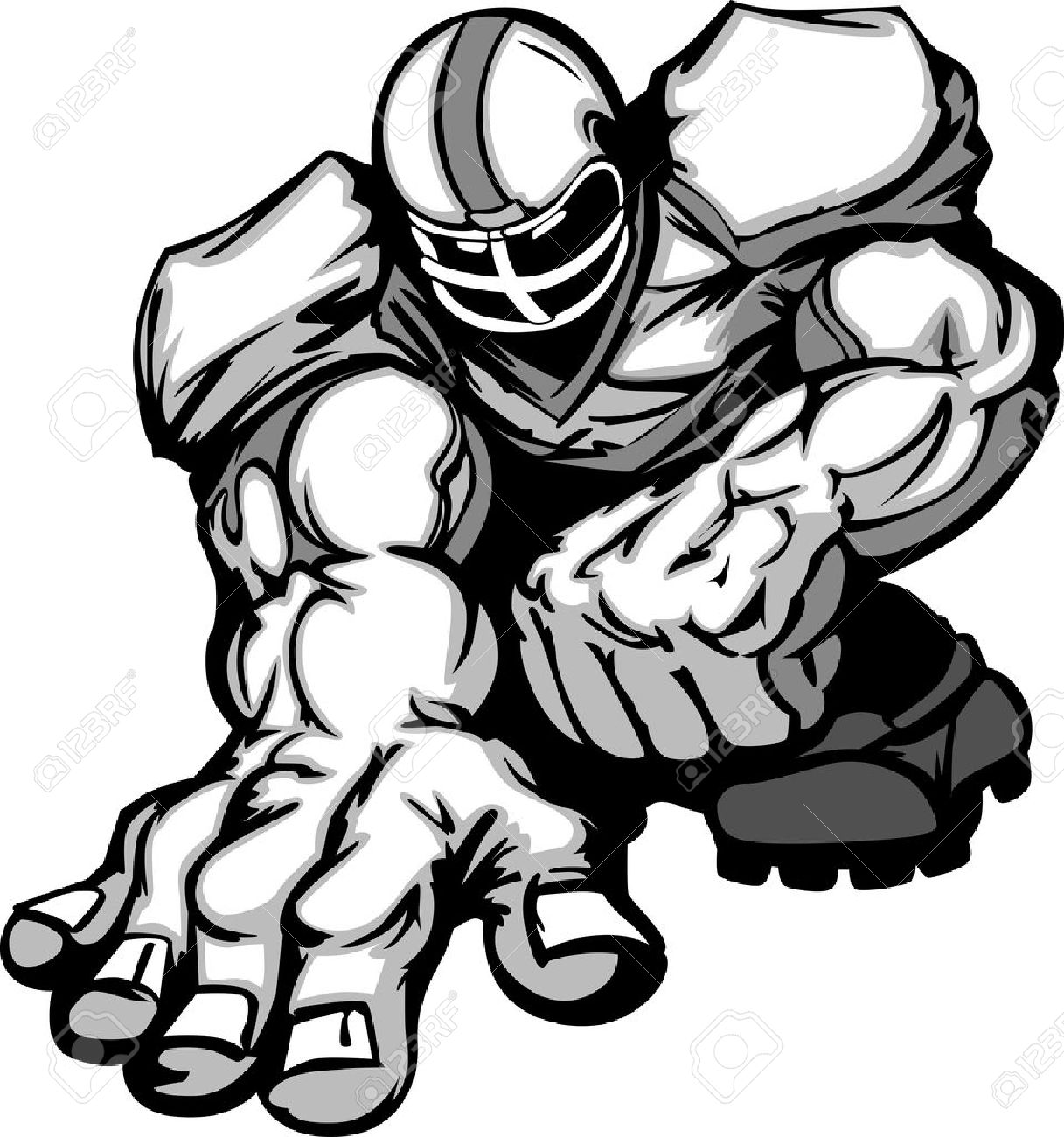 1217x1300 Football Player Lineman Cartoon Royalty Free Cliparts, Vectors