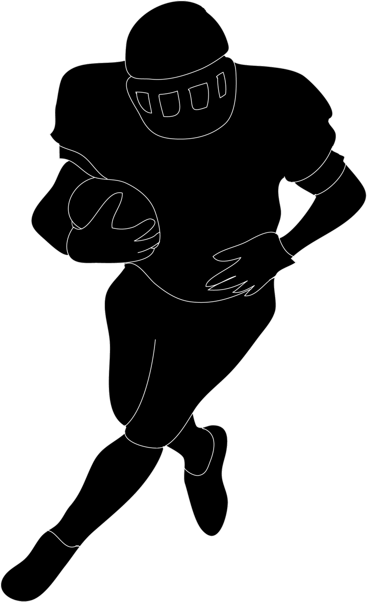 720x1181 Best Football Player Clipart Black And White