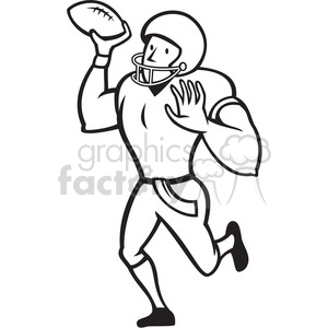 300x300 Royalty Free American Football Quarterback Pass Black White 389992