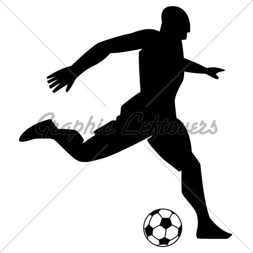 500x500 Soccer Goal Black And White Clipart