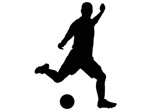 680x472 Black Amp White Clipart Soccer Player