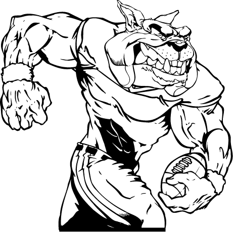461x459 Bulldog clipart football player