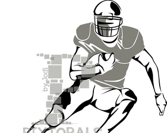 340x270 Football Player Clipart Set Of Eps Jpeg Png Vector