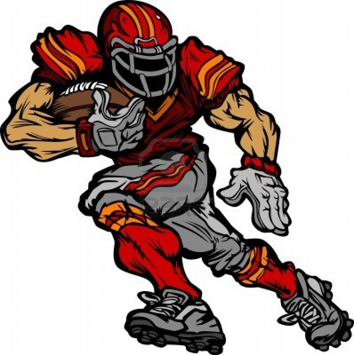1194x1200 Nfl football character clipart